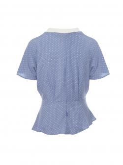 Top bleu cu drapaje Larisa Dragna
