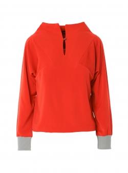 Long sleeved orange top Larisa Dragna
