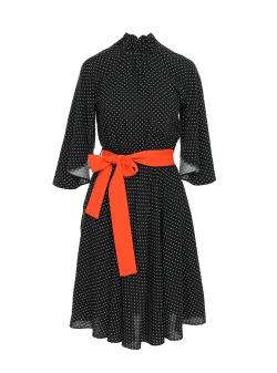 Black dress with dots Larisa Dragna