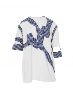 White t-shirt with panels Common Parts