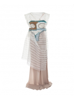 White c-thru dress Common Parts