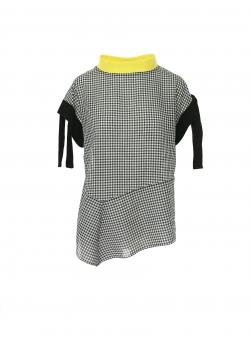 Bluza in carouri cu guler contrastant Larisa Dragna