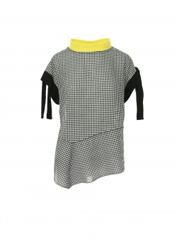 Gingham top with contrasting collar Larisa Dragna