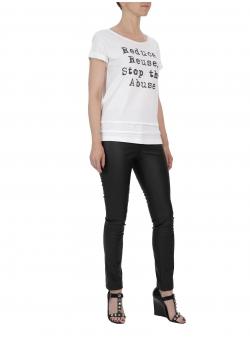 Pantaloni negri din piele ecologica Florentina Giol