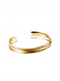 Cuff brass bracelet Roma Mesteshukar Butiq