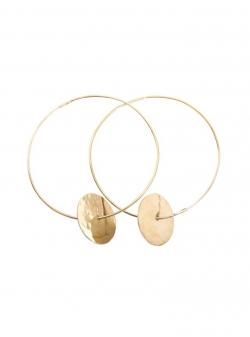 Hoop brass earrings Mesteshukar Butiq