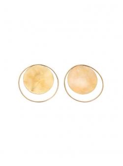Round brass earrings Florance Mesteshukar Butiq