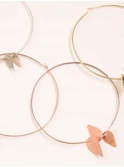 Loops copper earrings Mesteshukar Butiq