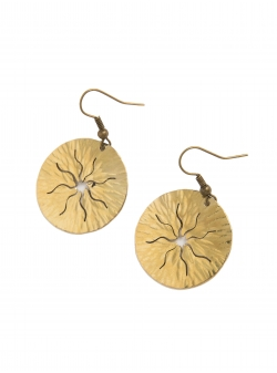 Sun brass earrings Mesteshukar Butiq