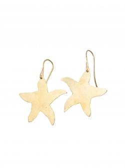 Starfish brass earrings Mesteshukar Butiq