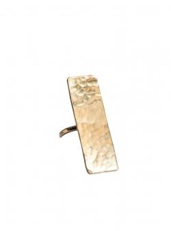 Rectangular brass ring MBQ Mesteshukar Butiq