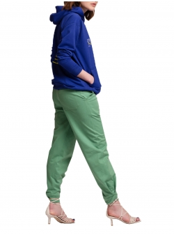 Green cotton trousers HFS Structural Andrea Szanto