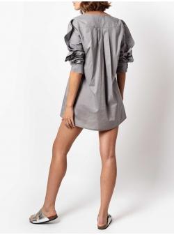 Grey mini dress Oxford Andrea Szanto