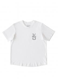 Tricou alb din bumbac The Happy T Andrea Szanto