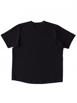 Tricou negru din bumbac The Happy T Andrea Szanto
