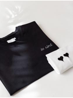 White cotton T-shirt Te Simt Andrea Szanto