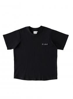 Tricou negru din bumbac Te Simt Andrea Szanto