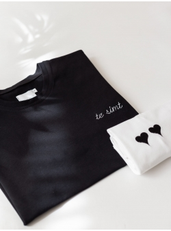 Black cotton T-shirt Te Simt Andrea Szanto