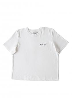 Tricou alb din bumbac Ma Ai Andrea Szanto
