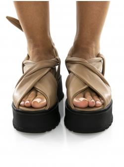 Brown leather sandals Ply Sandals Meekee