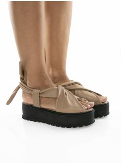 Sandale cu platforma din piele Ply Sandals Meekee