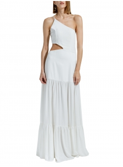 White maxi dress with cut Ramelle