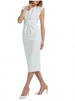 White midi cotton dress Ramelle