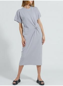 Grey midi cotton dress Ramelle