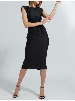 Black midi cotton dress Ramelle