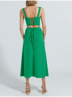Green crop top with strings Ramelle
