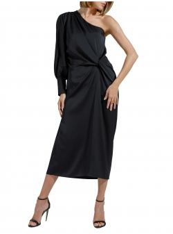 One sleeved black midi dress Ramelle