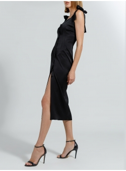 Black midi dress with bows Ramelle