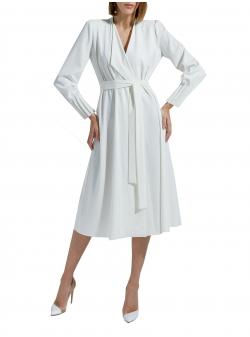 Long sleeved white midi dress Ramelle