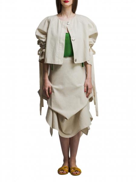 Jachetă din bumbac cu broderie lucrată manual Nicoleta Obis