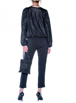 Black trousers with pockets Double You