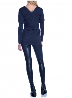 Black faux leather trousers Double You