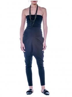 Black sleeveless jumspuit Double You