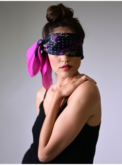 Silk scarf Dantelata Fuchsia Rozmarin Concept