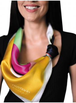 Natural silk scarf Punct de vedere Rozmarin Concept