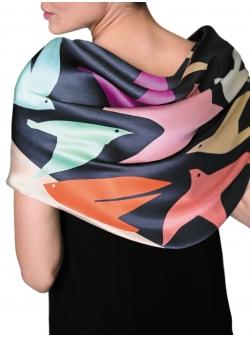Natural silk scarf Zburatoare Rozmarin Concept