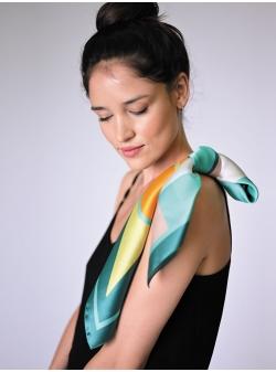 Natural silk scarf Stilleto Garden Rozmarin Concept