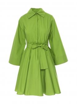 Rochie midi verde din bumbac Larisa Dragna