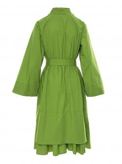 Rochie verde din bumbac Larisa Dragna