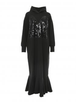 Rochie lunga neagra cu paiete Larisa Dragna