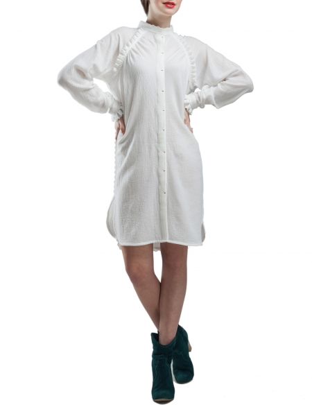 Long Sleeved Soft Cotton Dress