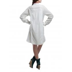 Rochie din bumbac moale cu maneca lunga Nicoleta Obis