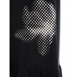 Rochie neagra din bumbac cu imprimeu Daisy Ioana Ciolacu