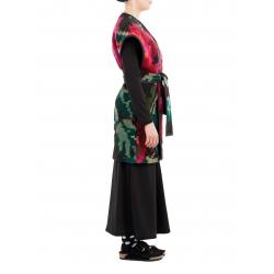 Vesta lunga din lana cu motive florale Nicoleta Obis