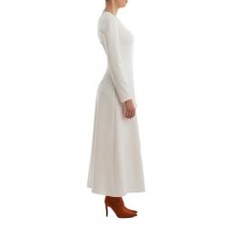 Rochie alba lunga Nicoleta Obis