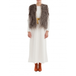 Brown Short Traditional Wool Vest